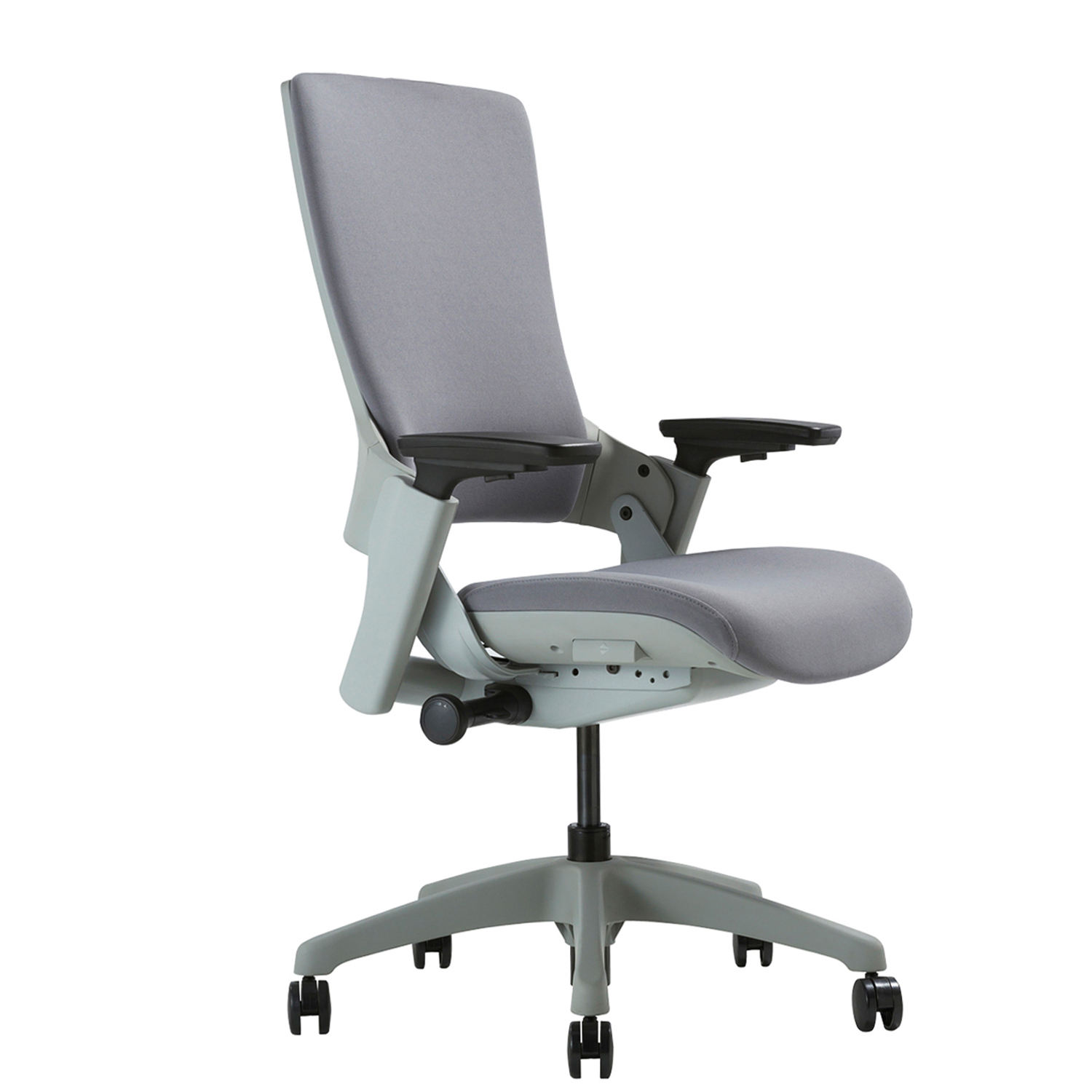 Cream-coloured Solid Base Revolving Moveable Office Chair