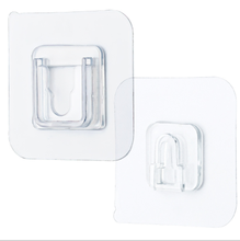 Waterproof Removable Adhesive plastic solid transparent wall mounted sticky hanging hook