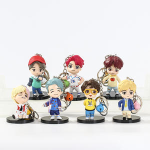 In stock hot sale wholesale kpop idol cute cartoon Bts v jimin jungkook 3d knick-knack acrylic ornaments kpop Bts keychain