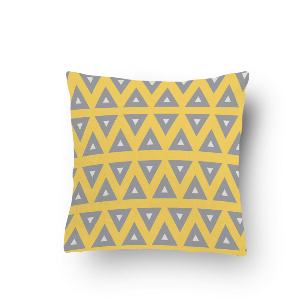 Cheap High Quality yellow color geometric printed Throw Pillow Cover
