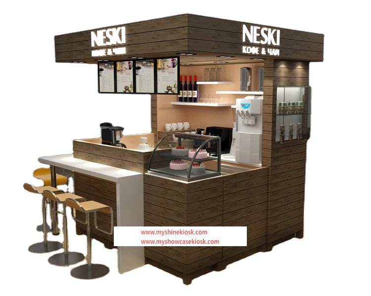 Myshine Hot Sale Customized Shopping Mall Food Booth Fast Food Kiosk Design Supplier