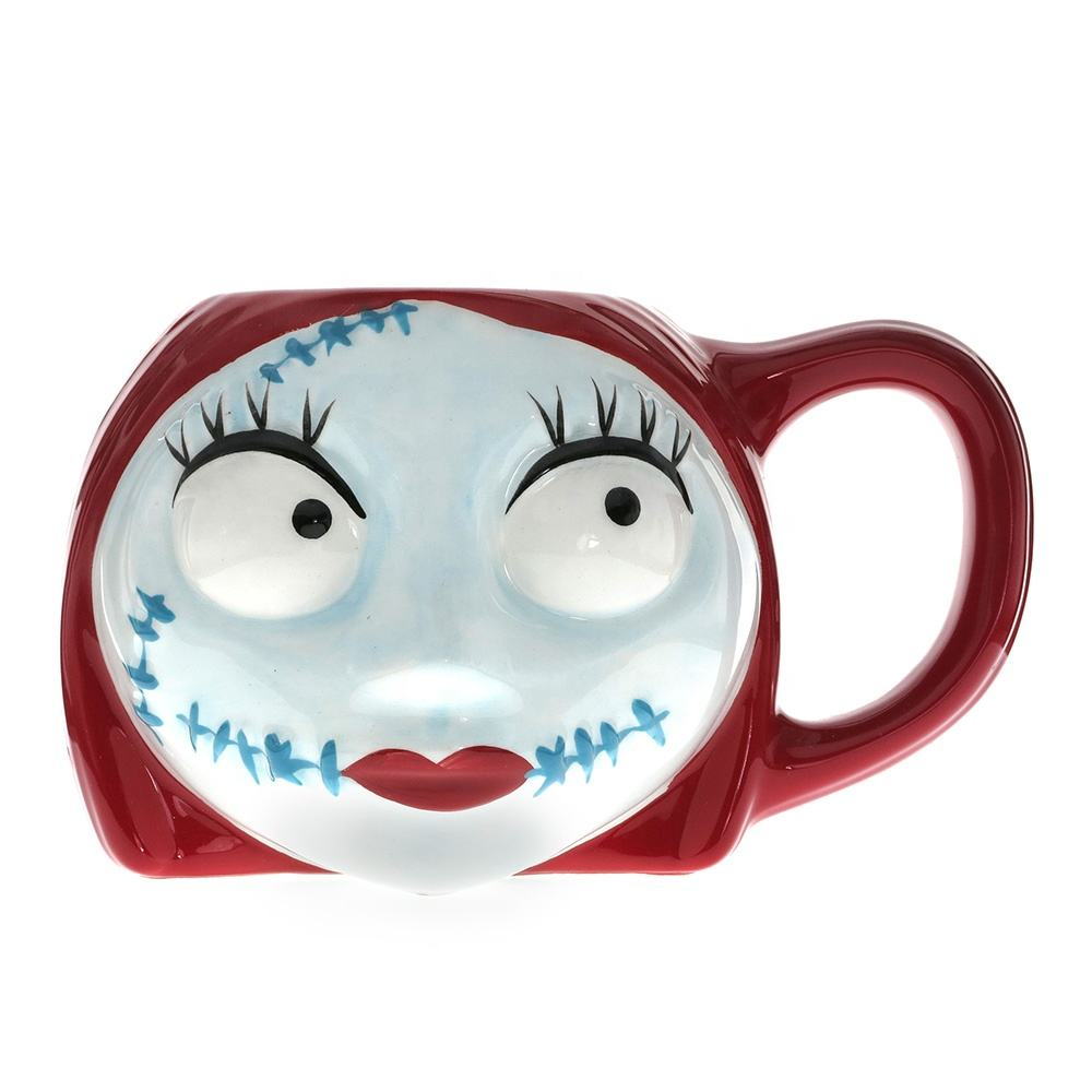 NEW PRODUCT ENVIRONMENTAL FRIENDLY RED CERAMIC GIFT DISNEY NBC SALLY HEAD NOVELTY MUG WITHOUT ROYALTY COST