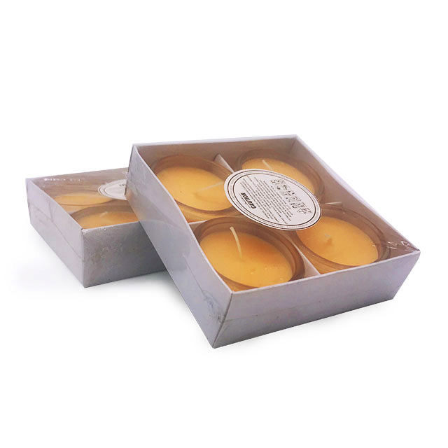 Tangerine fragrance tealight scented candle in glass jars with gift box