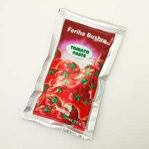 china factory 28-30% 50g 70g 210g 400g small sachet Tomato Paste ketchup Packaging good red color smell tomato paste