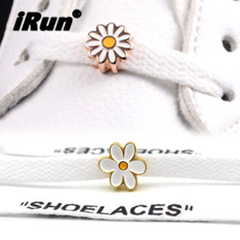 iRun 2020 New Fashion Shoes Accessories Cute Flowers Blank Shoelaces Charm Shoe Dubraes Custom Brand Logo