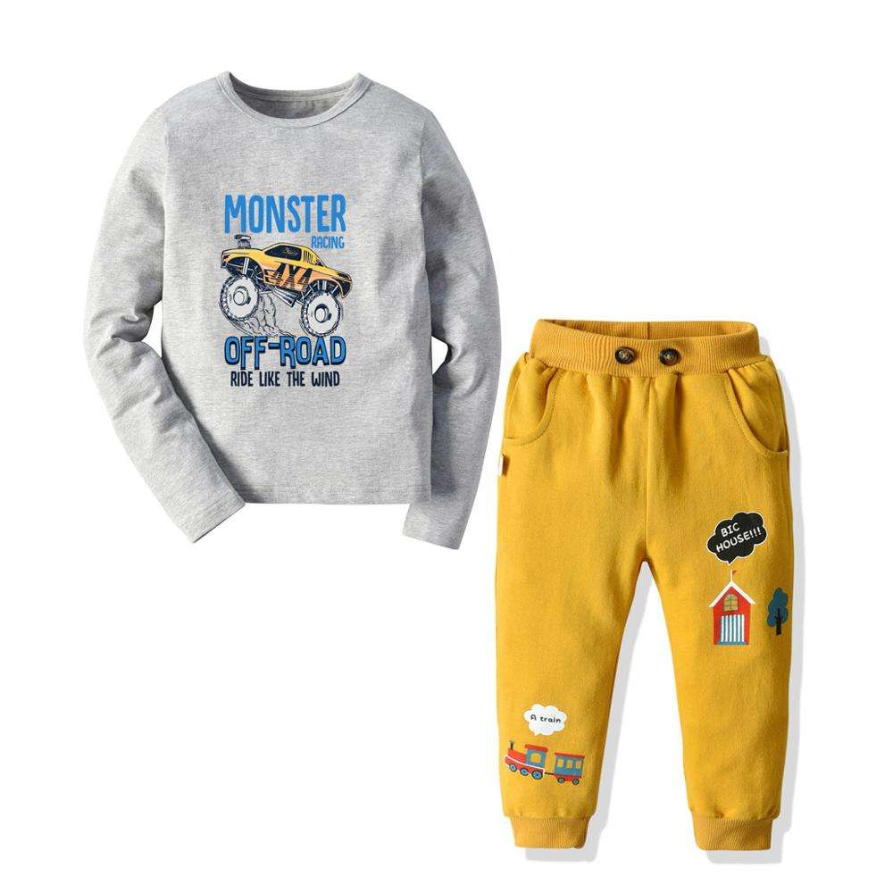 Casual Fleece Boys Sweatsuit Kids High Quality Boys pullover Sweatsuit Baby Jogging Set Hoodie And Trouser