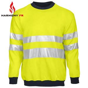 Wholesale Modacrylic Cotton FR Hi Vis Fleece Workwear With Reflective Tape