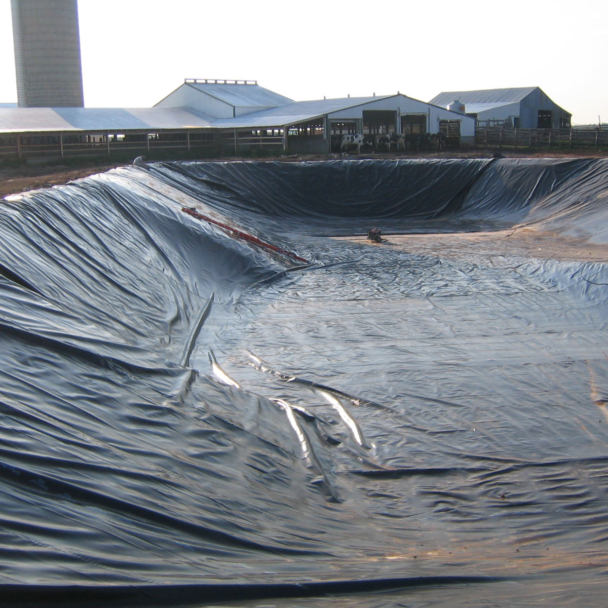ASTM 1.0mm HDPE geomembrane waterproof fish pond liner