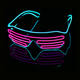 Light Up 2020 Neon Party EL Glasses EL Wire Neon LED Sunglasses Light Up Glasses Rave Costume Party DJ SunGlasses Birthday Party Decor