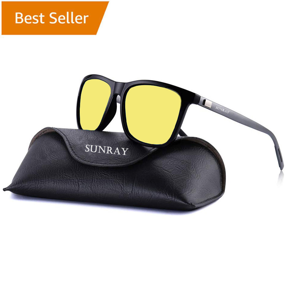 night vision driving aluminum sport sunglasses polarized sun glasses