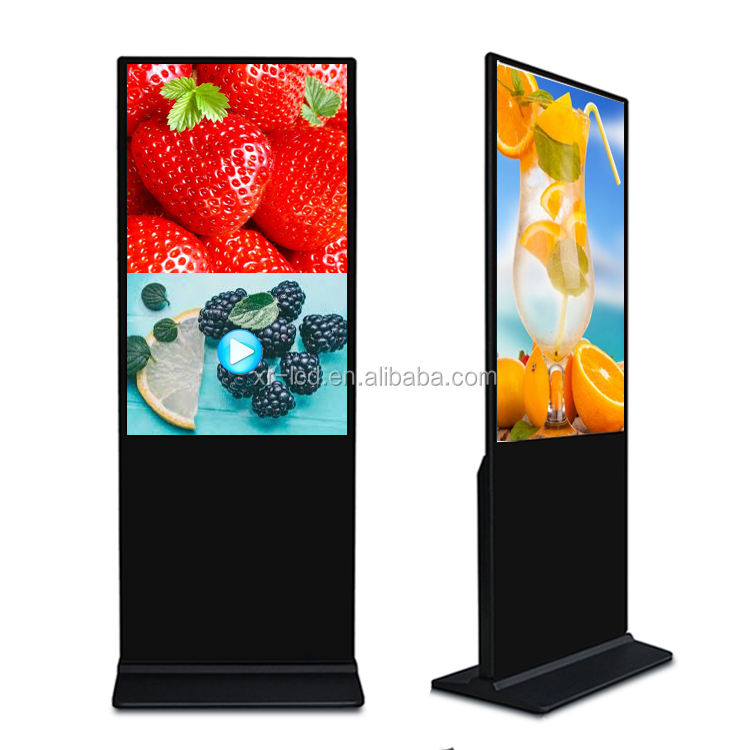 Android system lcd shop mall kiosk 42/43 inch floor standing indoor digital advertising machine display signage