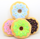15Cm Sightly Pet Chew Cotton Donut Play Toys Lovely Cat Tugging Chew Squeaker Quack Sound Toy Chew Donut Play Toys