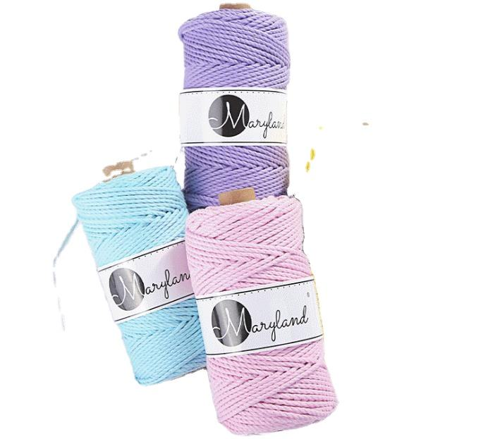wholesale custom weave cotton rope supplier macrame cotton cord