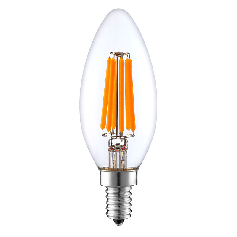 Worbest E12 Candelabra LED Bulbs Dimmable 2700K Daylight 6W Type Light Bulb for Chandelier,Winshine C35 Ceiling Fan Light Bulb