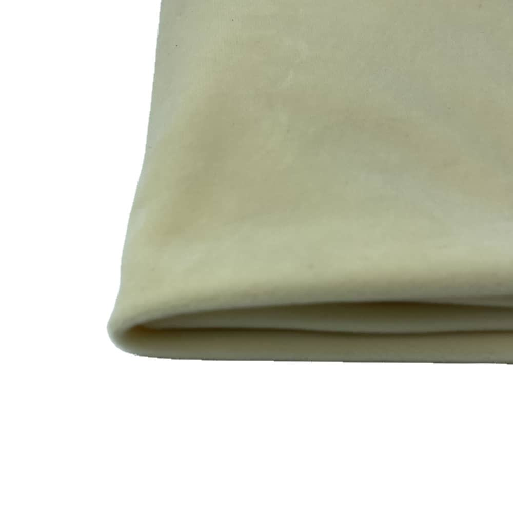 velour super soft white fur fabric in light apricot color for fabrics clothing satin