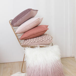 Super Soft Pink Style Ins Popular Velvet Three-dimensional Bubble Pillowcase Sofa Living Room Waist Cushion Cover Wholesale