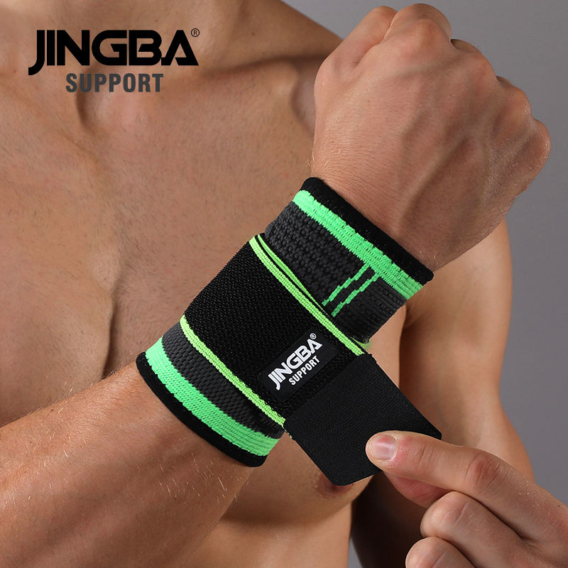 JINGBA SUPPORT Elastic Compression Gym Nylon Spandex Wrist Wraps For Wrist Joint Protection