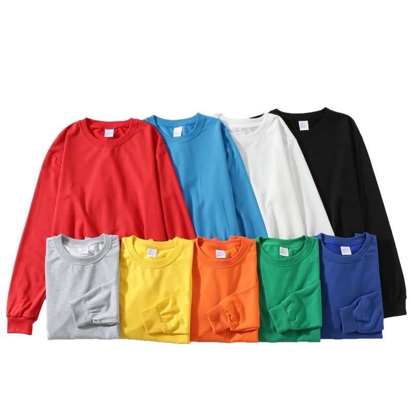 New style Mens Basic Crew Neck Pullover Diy Logo Plain Couple Hoodies Sweatshirts