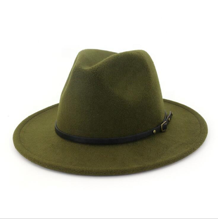 Wool Felt Fedora Men Hat Wholesale Feather Wool Felt Fedora Men Hat
