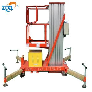 Hydraulic single mast aluminum manual man lift for sale
