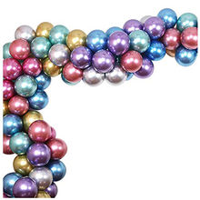 Party Balloons  12 Inch Metallic Colorful Thicker Latex Balloons for Wedding Birthday Decorations