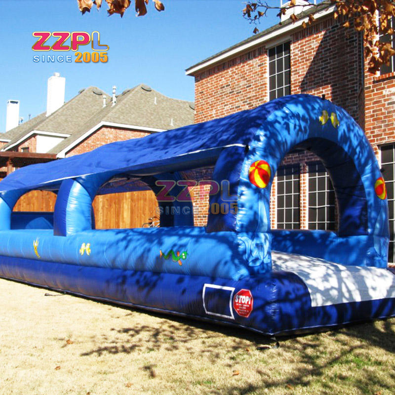 sea animal pattern inflatable slip n slide large inflatable water foam slide for sale