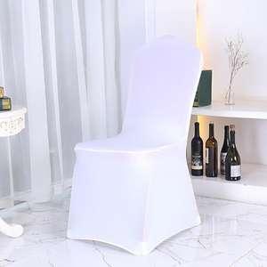 fundas para sillas plegables colores | Fundas plegables de LICRA para sillas de boda, blancas, varios colores, venta al por mayor