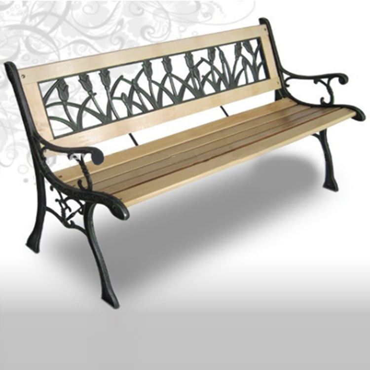 Cheap Cast Iron Garden Chairs/ Antique Wooden Park Bench