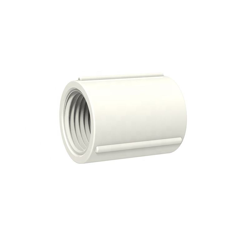 TY China Manufacturer PVC/ UPVC BS threaded plastic pipe fittings Female flexible coupling for bathroom Water supply