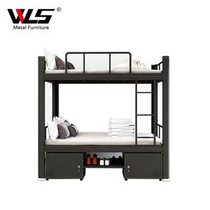 Wholesale Modern Triple Heavy Duty Metal Bunk Bed With Drawers, Single Double Sleeper Beds For Adult and Children
