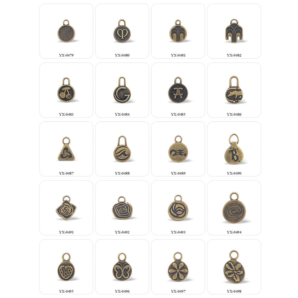 YUANXING Custom Size #3 #4 #5 #8 # 10 Zinc Alloy Metal Round Pull Ring Zipper Puller For Handbag
