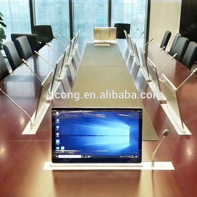Video Conference Desktop Motorized LCD Monitor Lift LCD Pop Up Lift