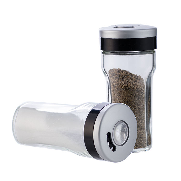 Glass Spice Jars/Bottles, 3 Oz Spice Containers BPA free with Magnifying Lid, Seasoning Shakers