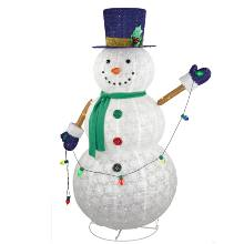 Adaptor 60IN 1.5M 200L LED Collapsible Snowman Seasonal Lighting For Christmas decor