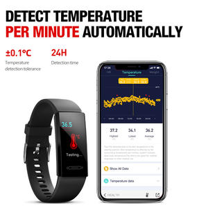 Ukur Suhu Termometer Monitor Detak Jantung Smart Gelang Tahan Air Olahraga Smart Watch