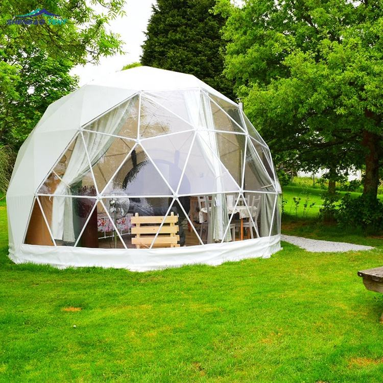 High Quality 6m Diameter Geodesic Half Eco Family Dome Tent Price Manufacturer For Backyard