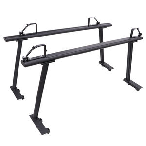 Kingcher Heavy Duty Universale Tetto Rack Per Pick-Up Nero di Alluminio Rimorchio Portascale Camion