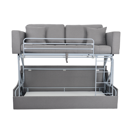Nisco living room furniture modern metal folding frame sofa 2 in 1 foldable bunk bed