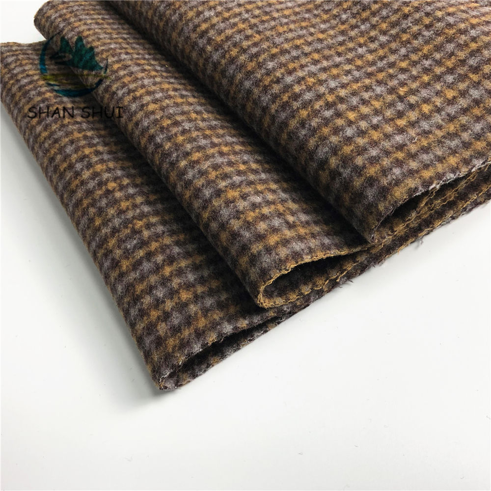 new wool fabric factory price tweed fabric double sided wool for overcoats wholesale wool fleece woolen fabric in sock