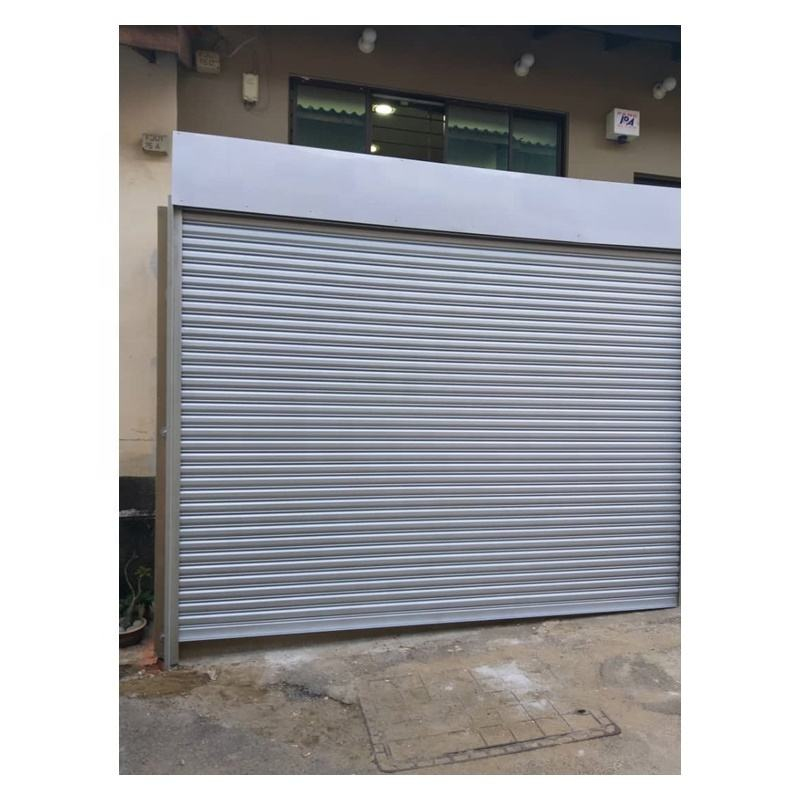Single Color Plate Roll up Door with Square Holes