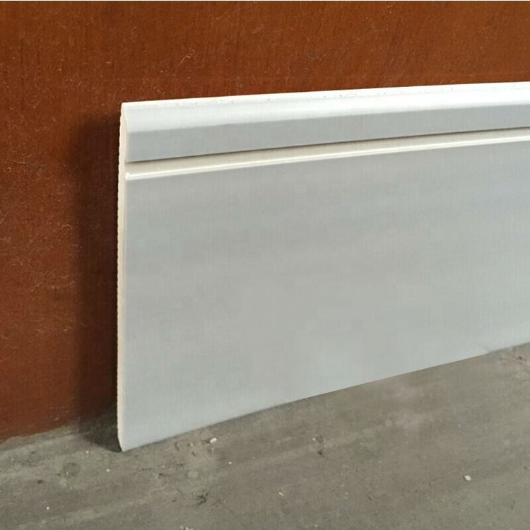 Decorative Wood Plastic Moldings Baseboard/ Waterproof Pvc Skirting Board