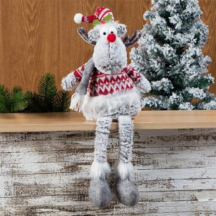 Nouveau mignon décoration de noël jouet doux renne//père noël père noël dangle jambes