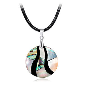 Hanging Shell Suspension Pendants Necklace for Women Jewelry Fashion Pink Abalone Mother of Pearl MOP Necklaces