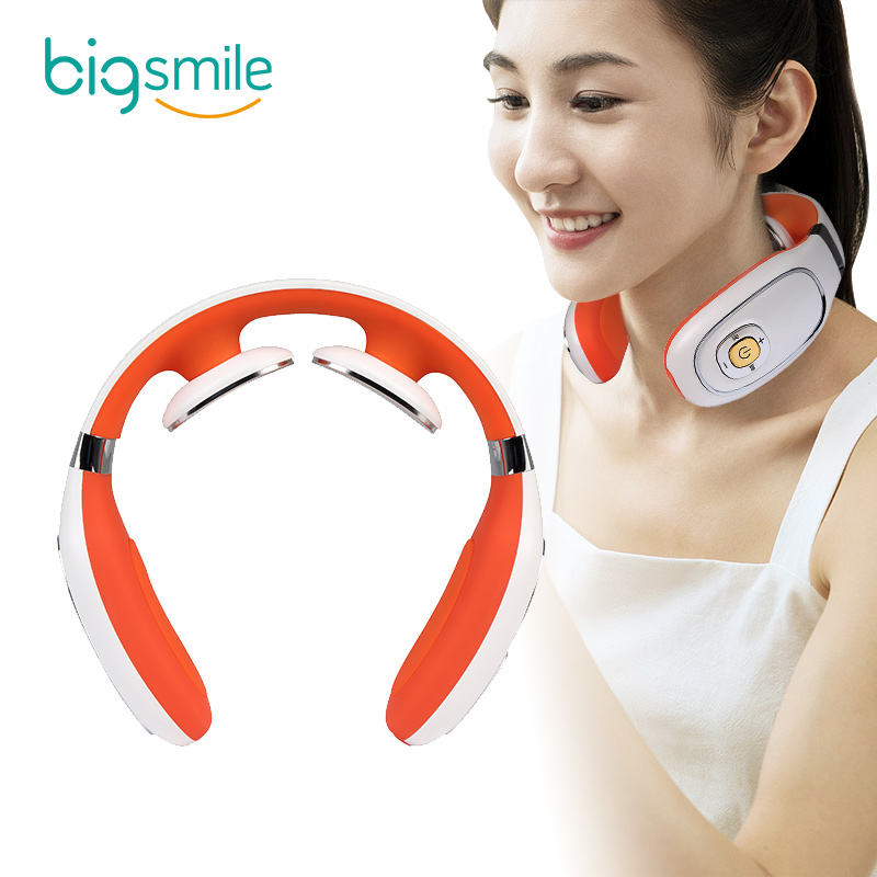 2020 big smile new product and design USB charging back and neck massager made in China electronic neck massager