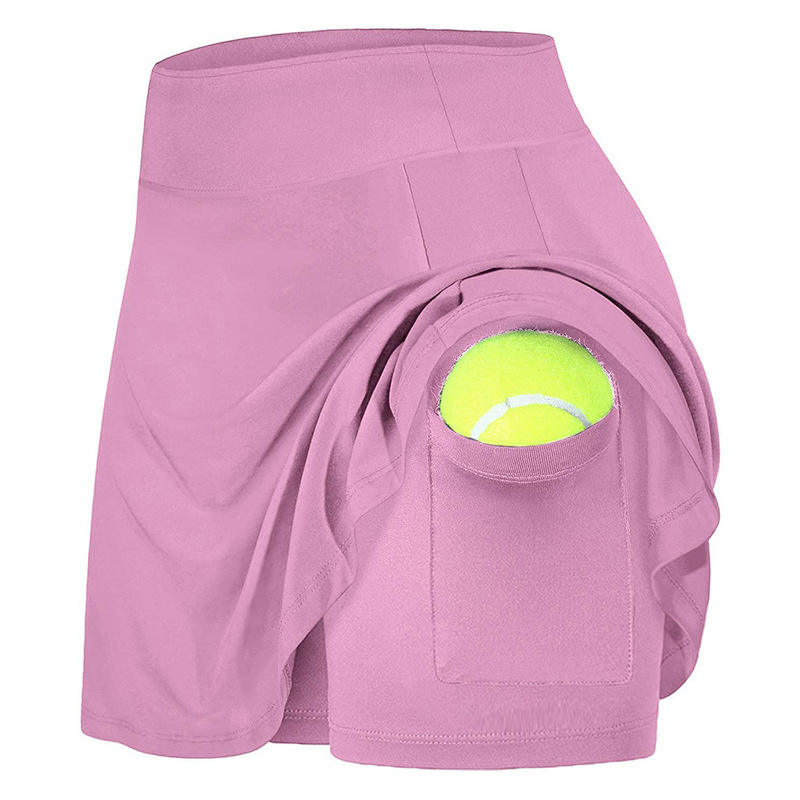 Oem Wholesale Women 2021 Spring Leisure Inside Pockets Tennis Sportswear Clothing Tennis Skirts
