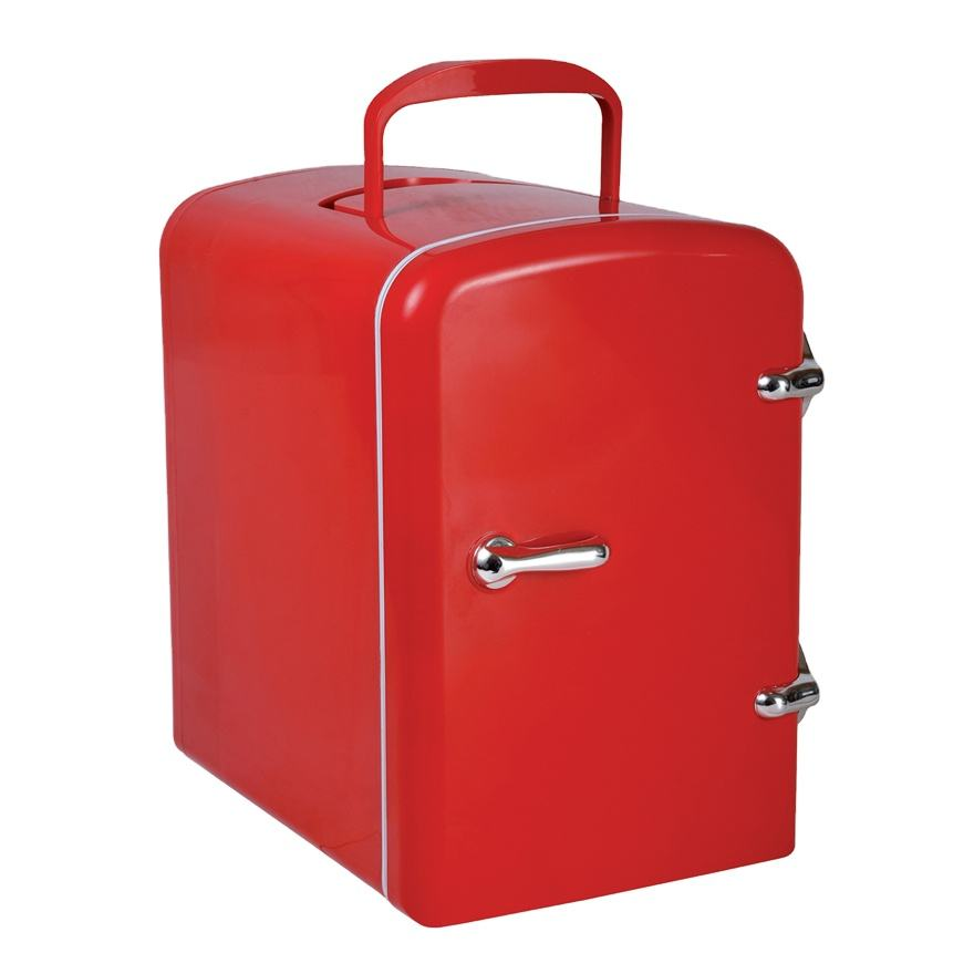Antronic mini fridge cost ATC-004 automobile home mini fridge and freezers 6 can red small fridge mini