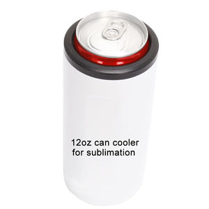Factory Custom 12Oz Insulated Skinny Can Cooler 12 Oz Stainless Steel Can Cooler for Sublimation