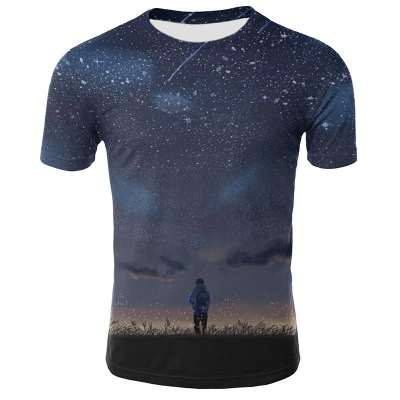 T Shirt Logo Space Galaxy Tshirt 2019 Fashion Summer 3D Print Tops Hipster Brand T-shirt Tops Tees Cartoon Fashion T Shirt