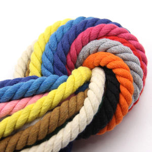custom size 100% cotton cord Rope Strand Twisted Macrame Cord for Wall Hanging Plant Hangers Crafts Pet Toys