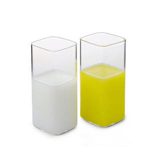 High borosilicate Heat-resistant Glass Milk Cup with Glass Juice Cups